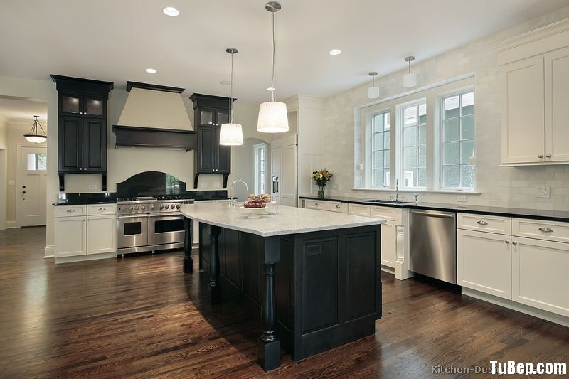 kitchen-cabinets-traditional-two-tone-164-s49406992x2-black-white-luxury-island-wood-hood