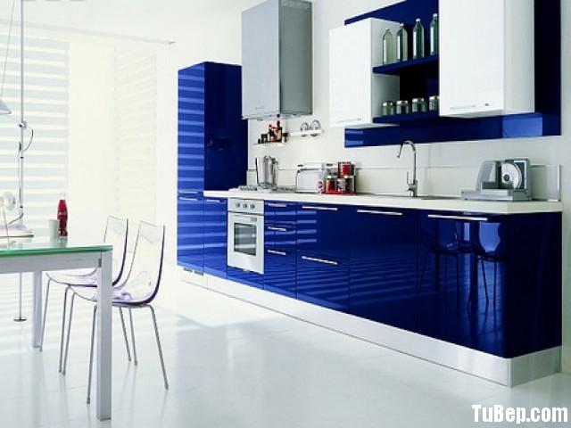 tủ-bếp-Acrylic-xanh-dương