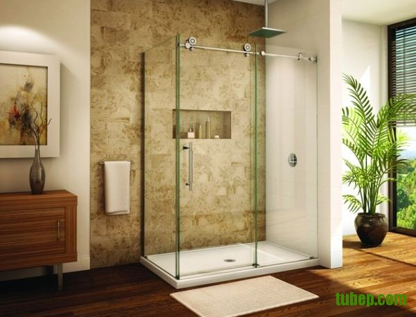 Frameless-sliding-glass-door-shower-enclosure-for-a-modern-b-0f630