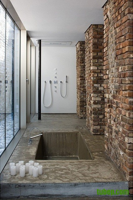 stylish-bathrooms-with-brick-walls-and-ceilings-19