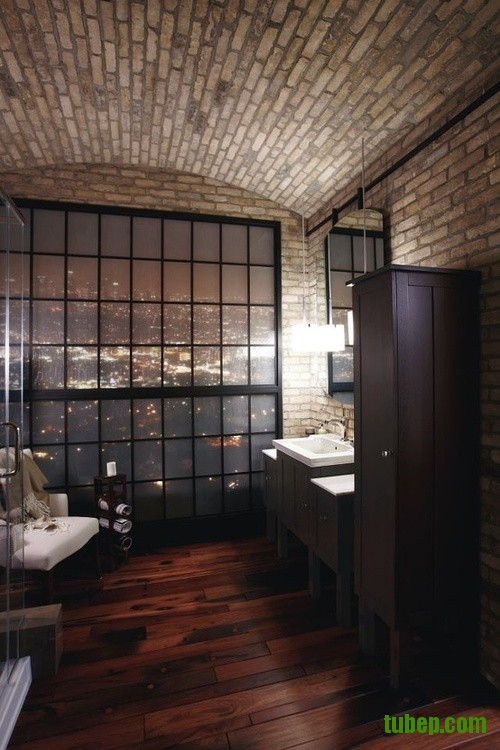 stylish-bathrooms-with-brick-walls-and-ceilings-27