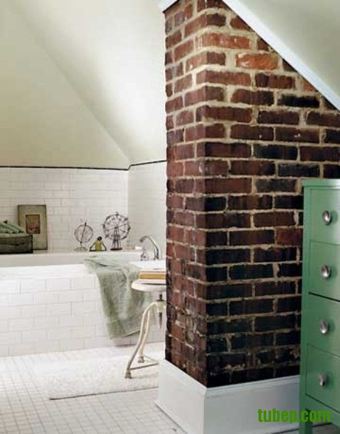 stylish-bathrooms-with-brick-walls-and-ceilings-29