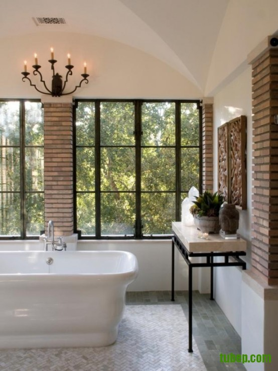 stylish-bathrooms-with-brick-walls-and-ceilings-35-554x738