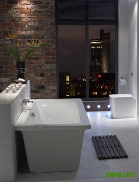 stylish-bathrooms-with-brick-walls-and-ceilings-36