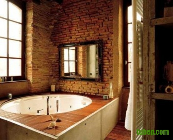 stylish-bathrooms-with-brick-walls-and-ceilings-39-554x449