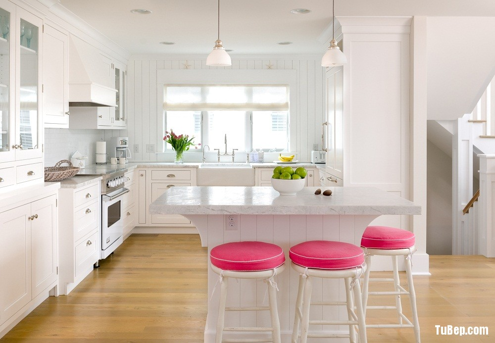 Kitchen of the Burns beach house in Bethany, designed by Erica Burns