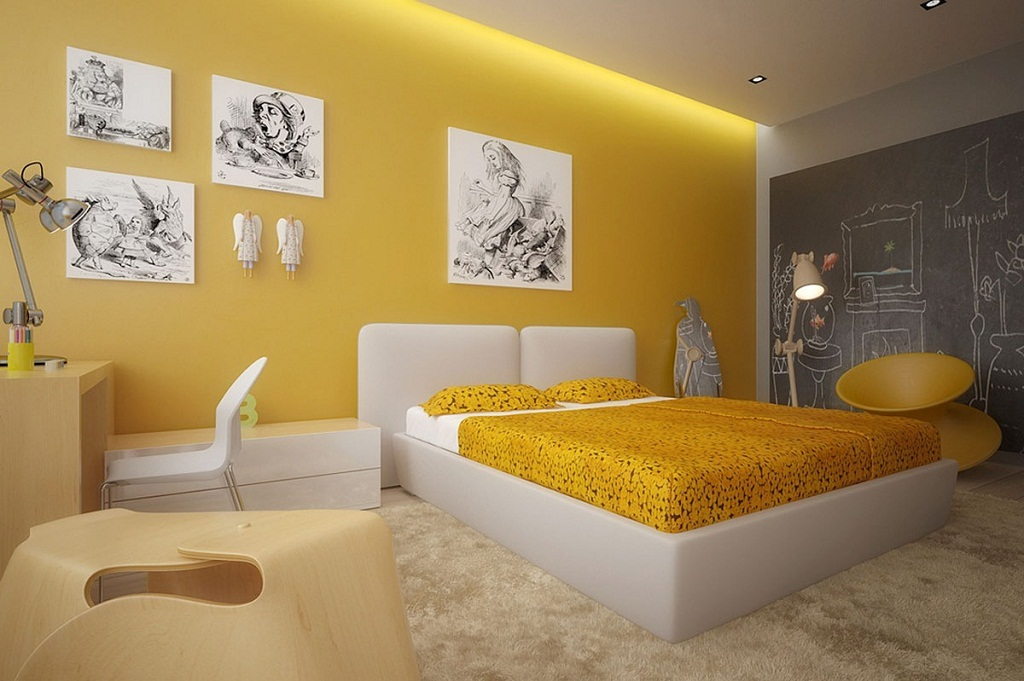 Yellow Color And Feng Shui For Your Bedroom My Decorative Cool As Well As Attractive Modern Bedroom With Yellow Color