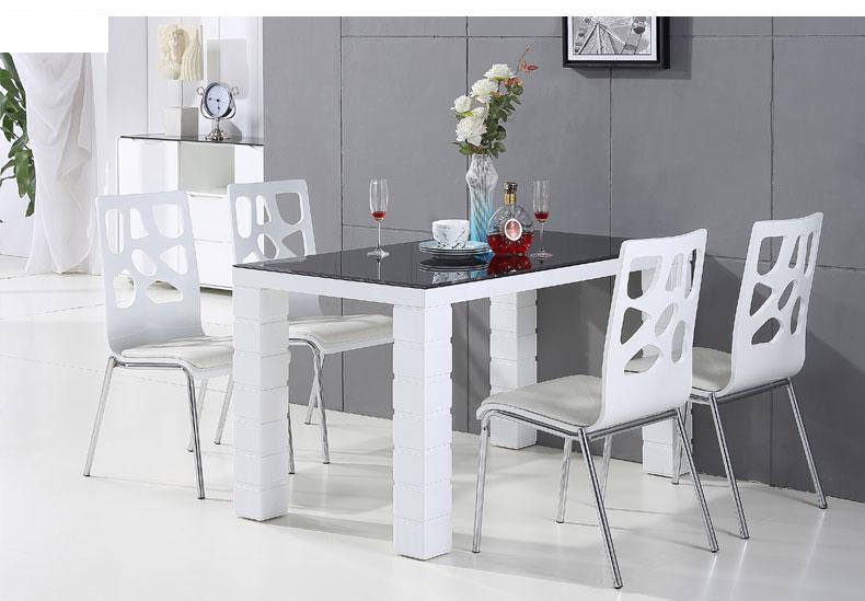 Bàn ăn màu trắng, bàn ăn cho chung cư, bàn ăn hiện