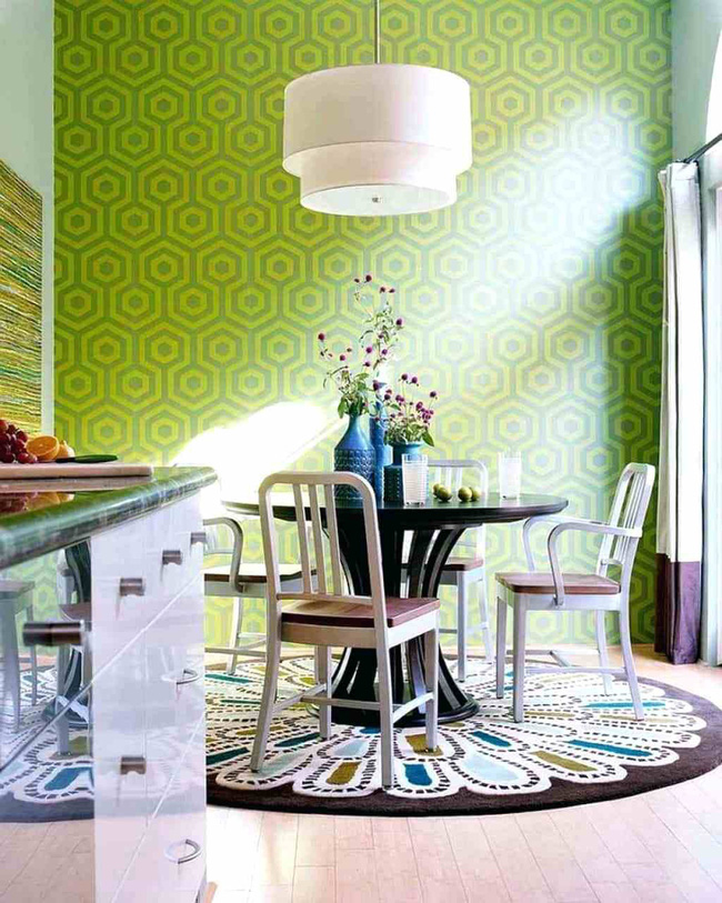 stylish-rug-dining-room-with-green-wallpaper-and-round-area-rugs-nz-1539849731181396391686